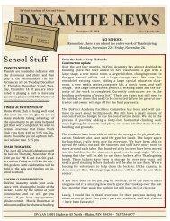 DYNAMITE NEWS - DaVinci Academy of Arts and Science