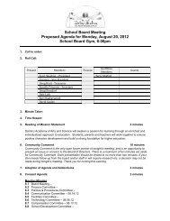 Agenda - DaVinci Academy of Arts and Science