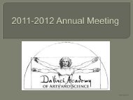 2011-12 Annual Meeting - DaVinci Academy of Arts and Science