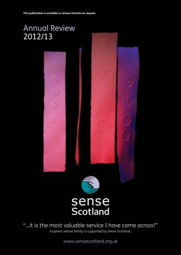 PDF Annual Review - Sense Scotland