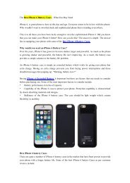 The Best iPhone 6 Battery Cases – What You May Need.pdf