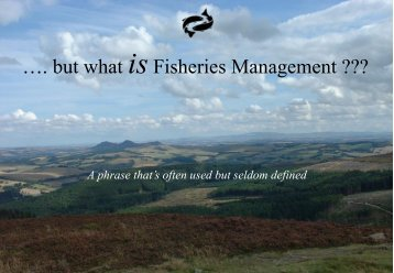 So what is Fishery Management? - RAFTS