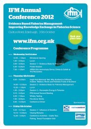 IFM Annual Conference 2012 Evidence Based Fisheries ... - RAFTS