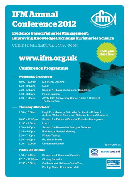 IFM Annual Conference 2012 Evidence Based Fisheries     - RAFTS