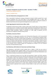 Scotland's Adaptation Conference 2013 – Speakers' Profiles