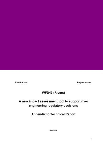 WFD49 (Rivers) A new impact assessment tool to support ... - Sniffer