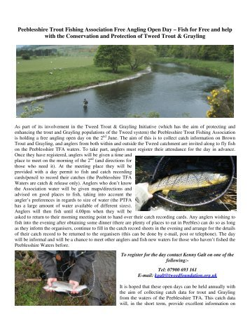 Peeblesshire Trout Fishing Association Free Angling Open ... - RAFTS