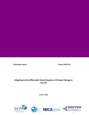 Adapting to the Differential Social Impacts of Climate ... - Sniffer
