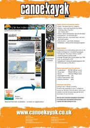 2011 web media pack.indd - Canoe & Kayak UK