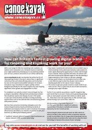 to download our Website Media Pack - Canoe & Kayak UK