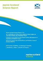 Scottish Marine and Freshwater Science Vol xx No xx - RAFTS