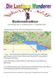 vom 13. 09- 15.09.2010 waren wir mit dem Rad am Bodensee