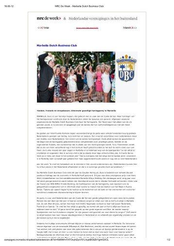 Haring Party 2012 - Marbella Dutch Business Club