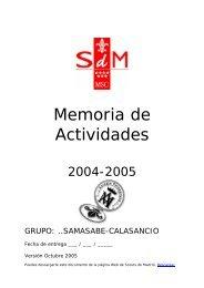 Memoria extendida de la ronda 2004-2005 - mSc