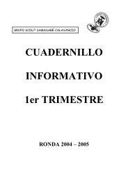 Cuadernillo del primer trimestre y ronda 2004-2005