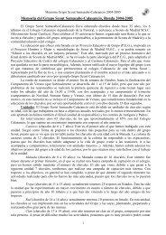 Memoria del Grupo Scout Samasabe-Calasancio ... - Scouts MSC