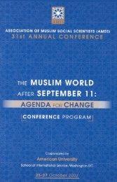 AGEDA O CHANGE - Association of Muslim Social Scientists