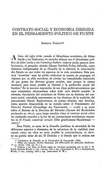 contrato social y economia dirigida en el pensamiento politico de ...