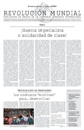Â¡Guerra imperialista o solidaridad de clase! - Corriente Comunista ...
