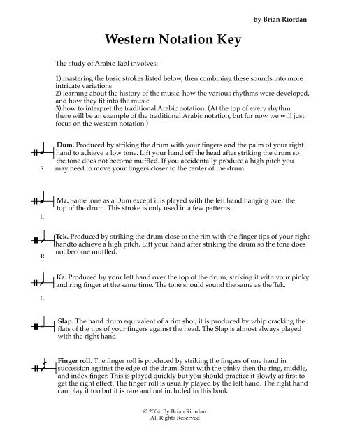 Western Notation Key pdf - Contemporary Music Project