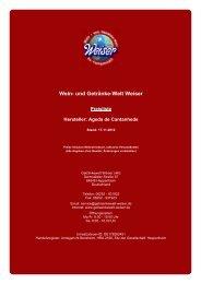 Preisliste für Hersteller: Ageda de  Cantanhede - und Getränke-Welt ...