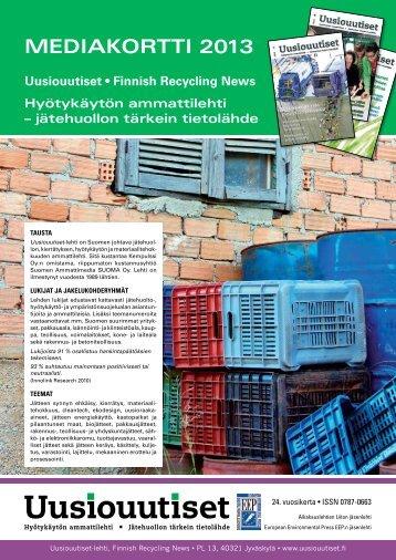 Uusiouutisten mediakortti 2013 - Uusiouutiset