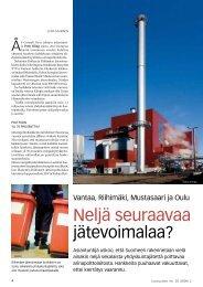 Neljä seuraavaa jätevoimalaa? pdf-muodossa - Uusiouutiset