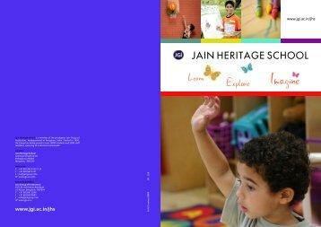 Download Brochure - Jain Heritage School