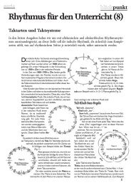 Rhythmus für den Unterricht (8) - Gerhard Reiter