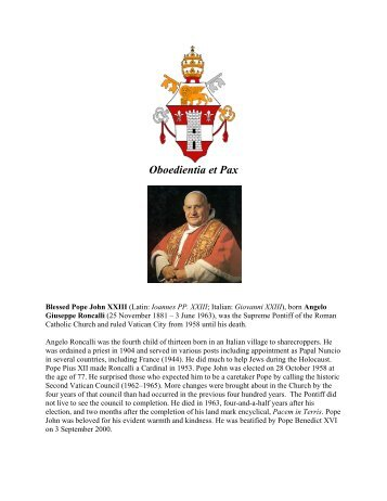 Opening of Second Vatican Council