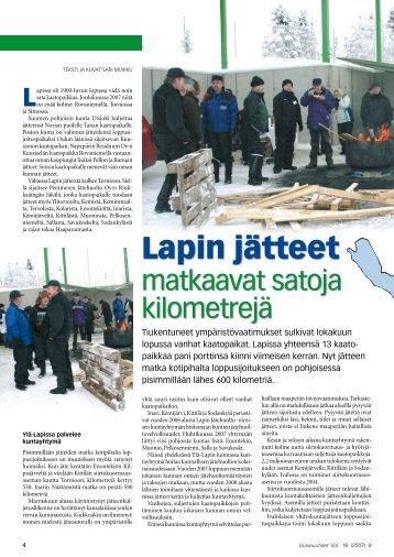 Lapin jätteet matkaavat satoja kilometrejä pdf ... - Uusiouutiset