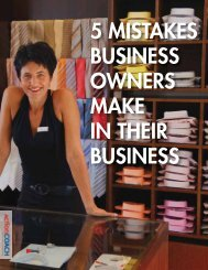 5 MISTAKES BUSINESS OWNERS MAKE IN ... - ActionMEMBERS