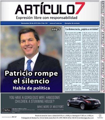 Patricio rompe el silencio - a7.com.mx