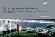 Die Sport Editionen von Mercedes-Benz.
