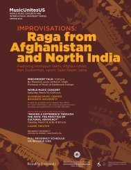Spring 2012 - Raga from Afghanistan and North India - MusicUnitesUS
