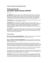 OFFICIAL CONTEST RULES AND REGULATIONS - TLN