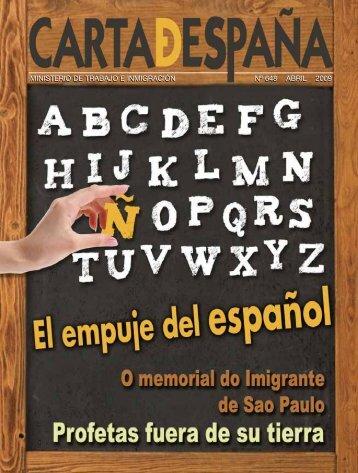 ministerio de trabajo e inmigración nº 648 abril 2009 - Portal de la ...