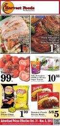 Advertised Prices Effective Oct. 31 - Nov. 6, 2012 - URM Stores, Inc.