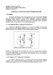 (multi st age) yükselteçler - KTÜ Elektrik-Elektronik Mühendisliği ...