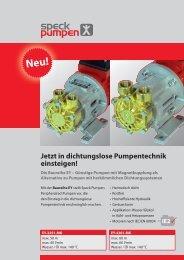 Dichtungslose Pumpentechnik - Speck Pompen België