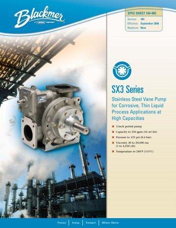 Click download SX3 Series pump brochure - Aquapump.co.za