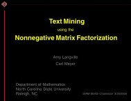 Text Mining using the Nonnegative Matrix Factorization - Carl Meyer