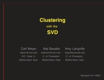 Clustering SVD - Carl Meyer