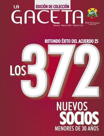 La Gaceta 246 | Febrero - Marzo de 2007 - Club Cartagena