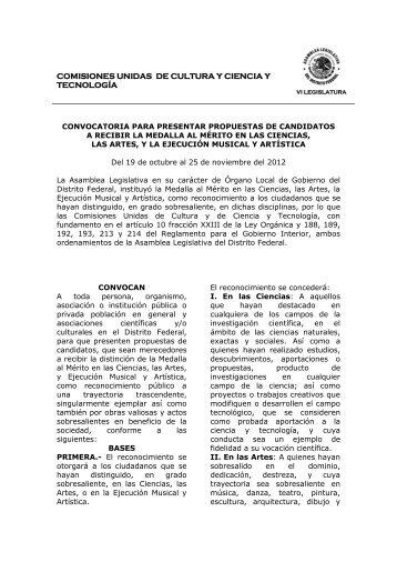 convocatoria para presentar propuestas de candidatos - Centro ...