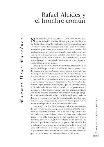 Rafael Alcides y el hombre común - Cuba Encuentro