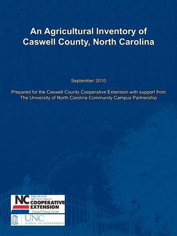 Caswell County Agriculture - UNC School of Government