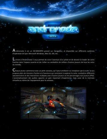 Andromeda 5 est un 3D MMORPG gratuit sur navigateur, et ...