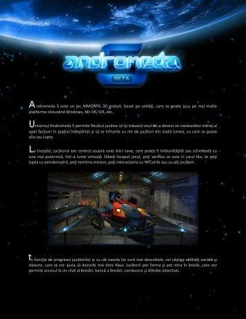 Andromeda 5 este un joc MMORPG 3D gratuit, bazat pe unităţi, care ...