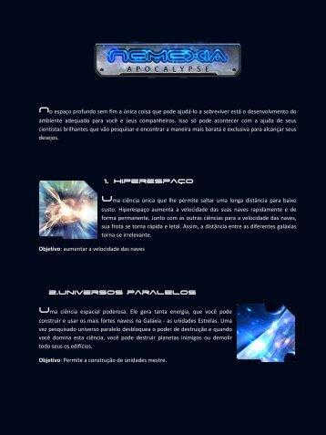 1. Hiperespaço 2.Universos paralelos